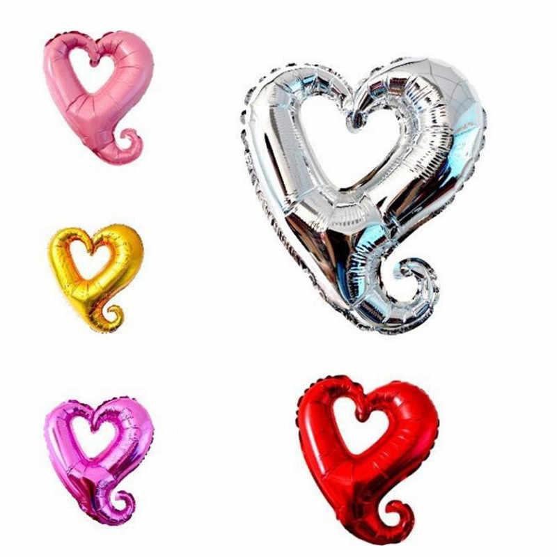 1 peça Ligaduras AMOR Carta Foil Balão Dos Namorados Aniversário de Casamento da Festa de Aniversário Decoração Balão Vermelho Champanhe copo