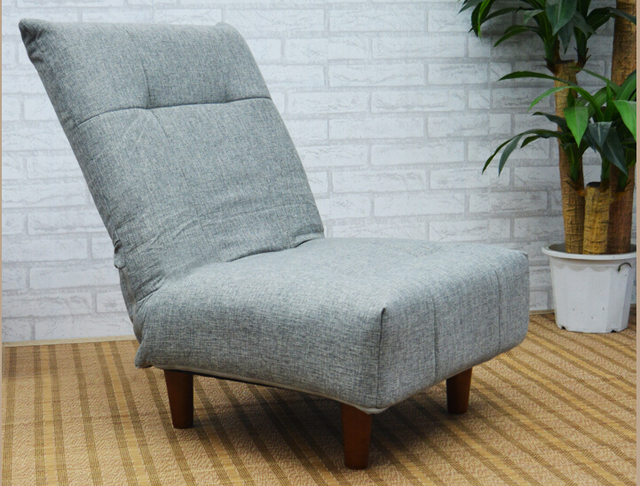 Modern Fabric Japanese Sofa Furniture Single Foldable Sofa Chair Armless Lounge Recliner Living Room Occasional Accent Chair