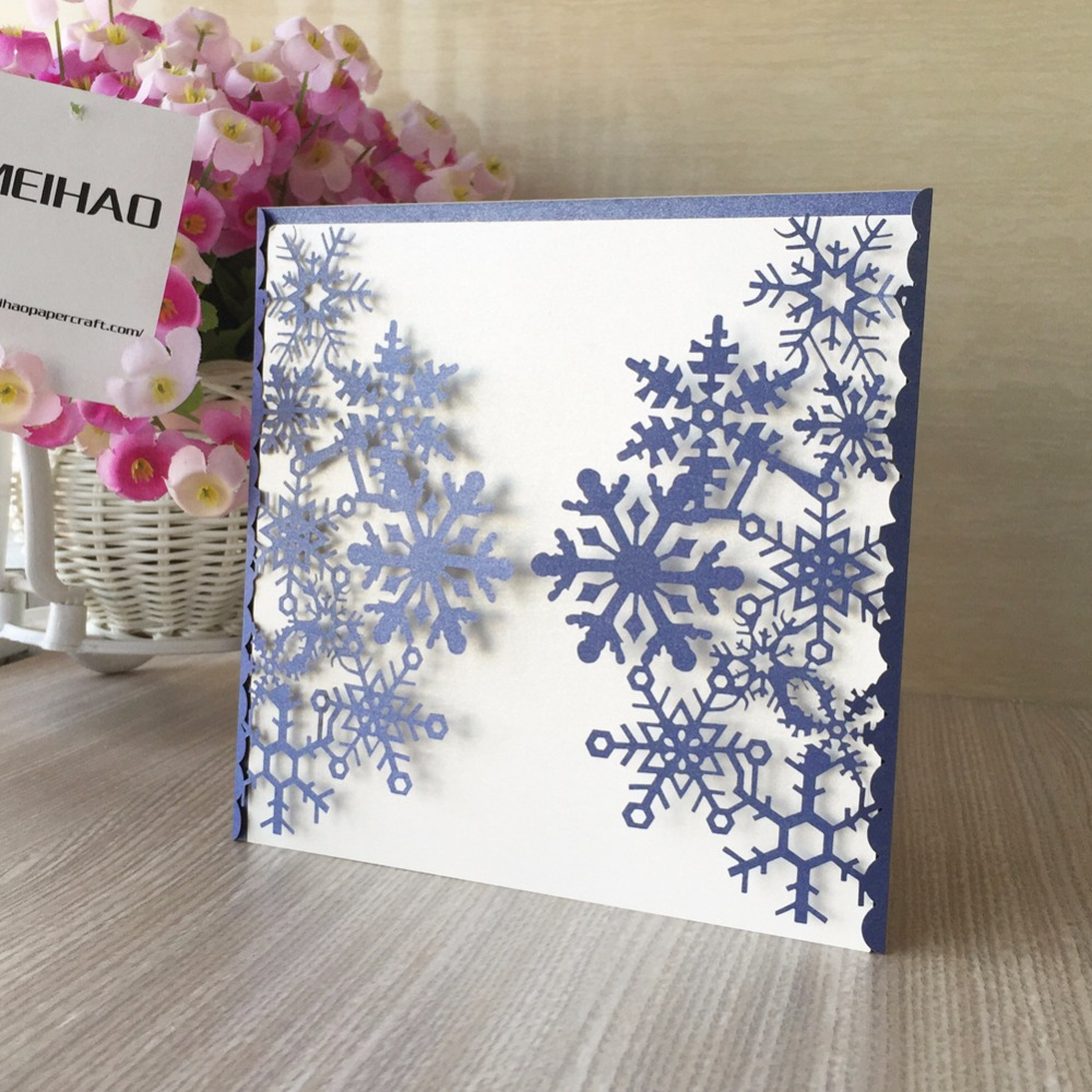 Exceptional 100pcs/lot Romantic Wedding Party Invitation Card Wedding Invitation  Delicate Carved Snow Pattern Wedding Decoration