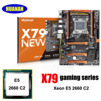 New arrival Brand HUANAN deluxe X79 motherboard Xeon E5 2660 C2 support 64G(4*16G) memory PC assembly components build computer