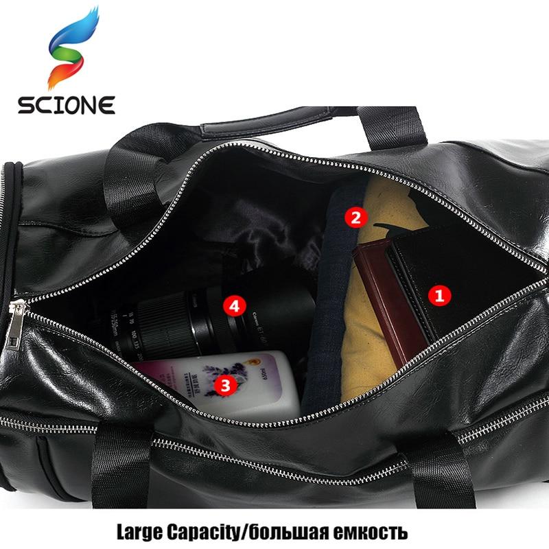 Top PU Outdoor Sports Gym Bag Men Women with Training Storage Shoes - Beg sukan - Foto 3