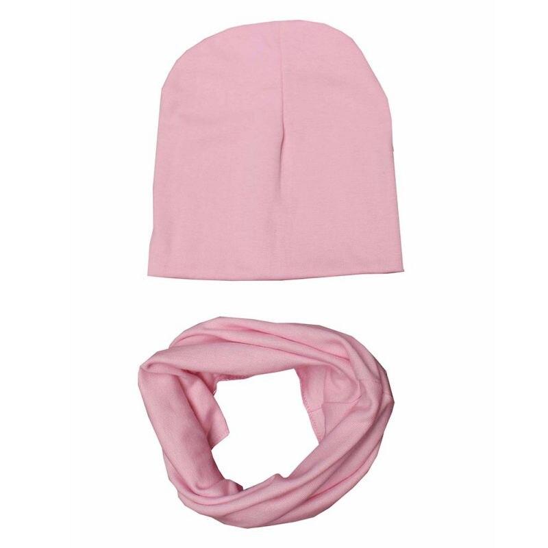 Baby Hats & Scarfs Set Cotton Children Hat Scarf Collar Spring Baby Cap Kids Boys Girls Beanies Infant Toddler Hats Sets