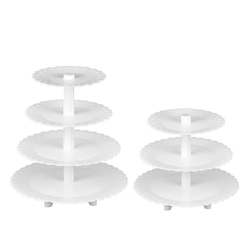 3/4 Tiers Plastic Cupcake Stand Birthday Party Cake Stand Wedding Table Stand Multi-Layer Dessert Table Display Shelf3/4 Tiers Plastic Cupcake Stand Birthday Party Cake Stand Wedding Table Stand Multi-Layer Dessert Table Display Shelf