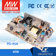 Steady MEAN WELL PD-45A meanwell PD-45 40W Dual Output Switching Power Supply hot selling mean well pd 110b meanwell pd 110 109w dual output switching power supply