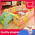 2016 New Real Cercadinho Baby Playpen Fence Fencing For Children Baby Child Game Fence Crawling Security Toddler Ball Pool Toy