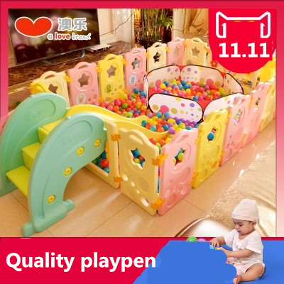 2017 < 3 Years Old Real Cercadinho Baby Playpen Fence Fencing For Children Child Game Crawling Security Toddler Ball Pool Toy quality baby fence child fence baby safety guardrail creepiness toddler fence crib game house toy playpen colorful girl boy