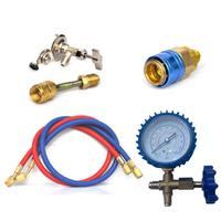 R22 R134A R410 R600 Refrigerant Household Air Conditioning Fluoride Adding Tool Kit Car Air Conditioning Common Cool Gas Meter