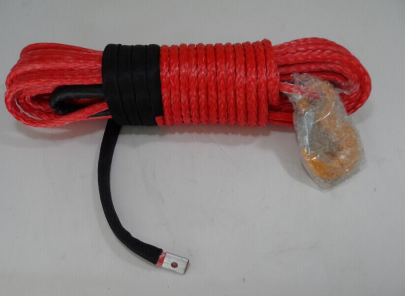 Red 10mm*30m Synthetic ATV Winch Rope,3/8 x 100 Winch Cable,Off Road Rope,Winch Line