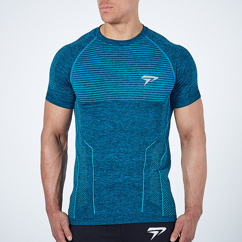 2020 New Men Running Tight Short T-shirt compression Quick dry t shirt Male Gym Fitness Bodybuilding jogging Tees Tops clothing 5