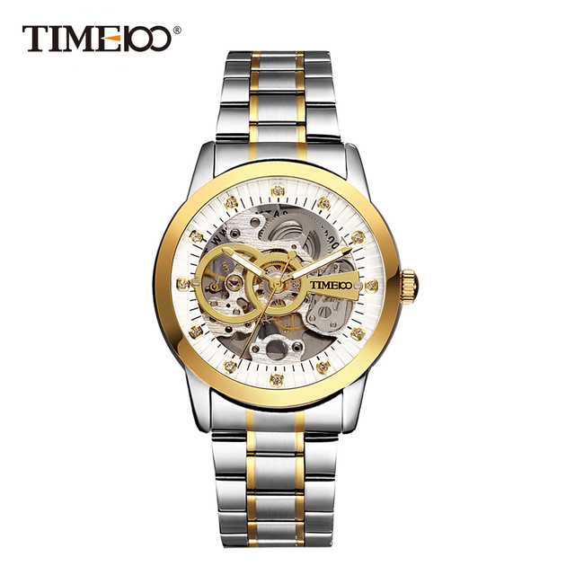 TIME100 - Mechanical Self-Wind Skeleton Space Watch 1