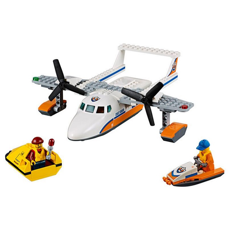 Lepin 02066 153PCS New Genuine City Series Sea Rescue Plane Remain Building Block Brick Educational Toys For Children Gifts