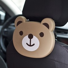 Cute Car Cartoon Animal Shaped Folding Auto Car Back Seat Table Drinks Food Cup Holder Car Multi-functional Tray Child Favorite