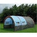 Большие палатки Кемпинга Водонепроницаемый Холст Стеклоткани 5-8 Человек Семьи Туннель 10 Человек Палатки оборудование открытый альпинизм Партии