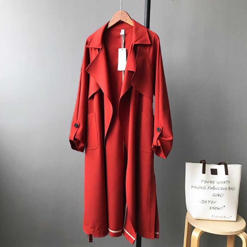 SEDUTMO الخريف طويل خندق معطف المرأة المعتاد الشارع الشهير معطف المتناثرة عارضة خمر الشتاء منفضة معطف ED426