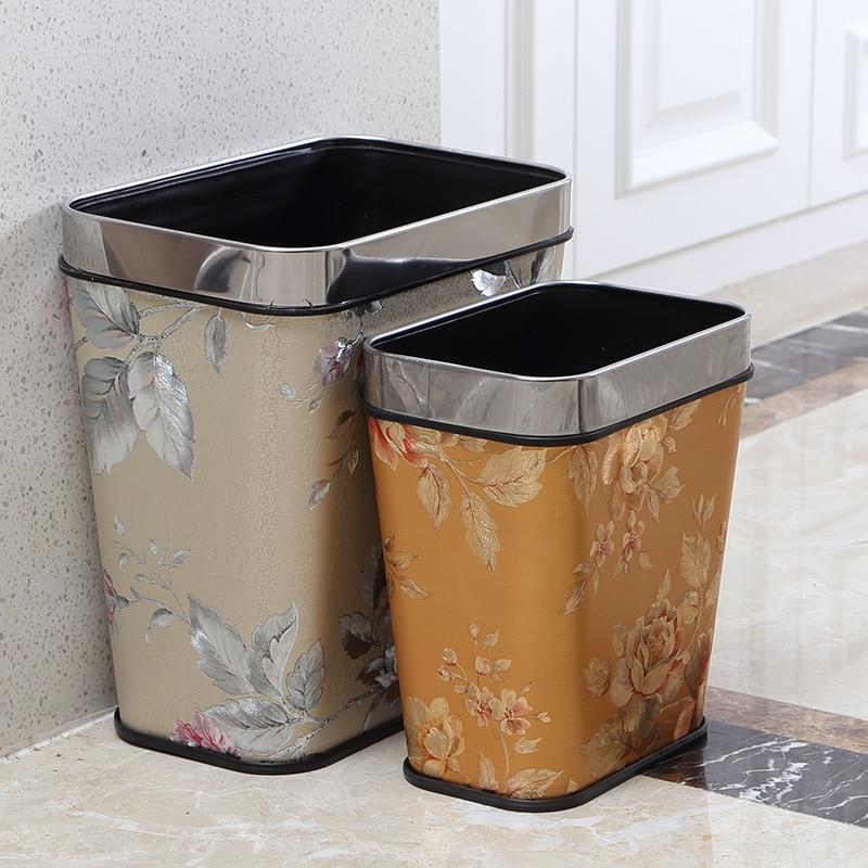 moda creativa pattumiere continental retro plastica bidoni della spazzatura bagno ufficio cestino per la carta