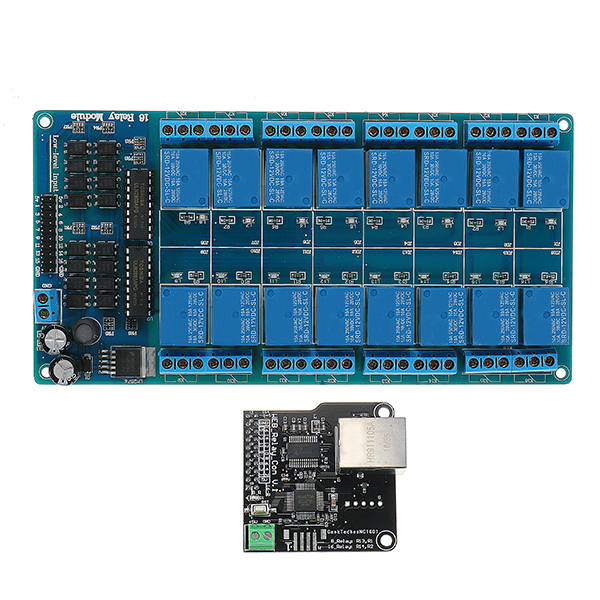 Ethernet Control Module With 16 CHs Relay For Arduino LAN WAN WEB Server RJ45 Android iOS
