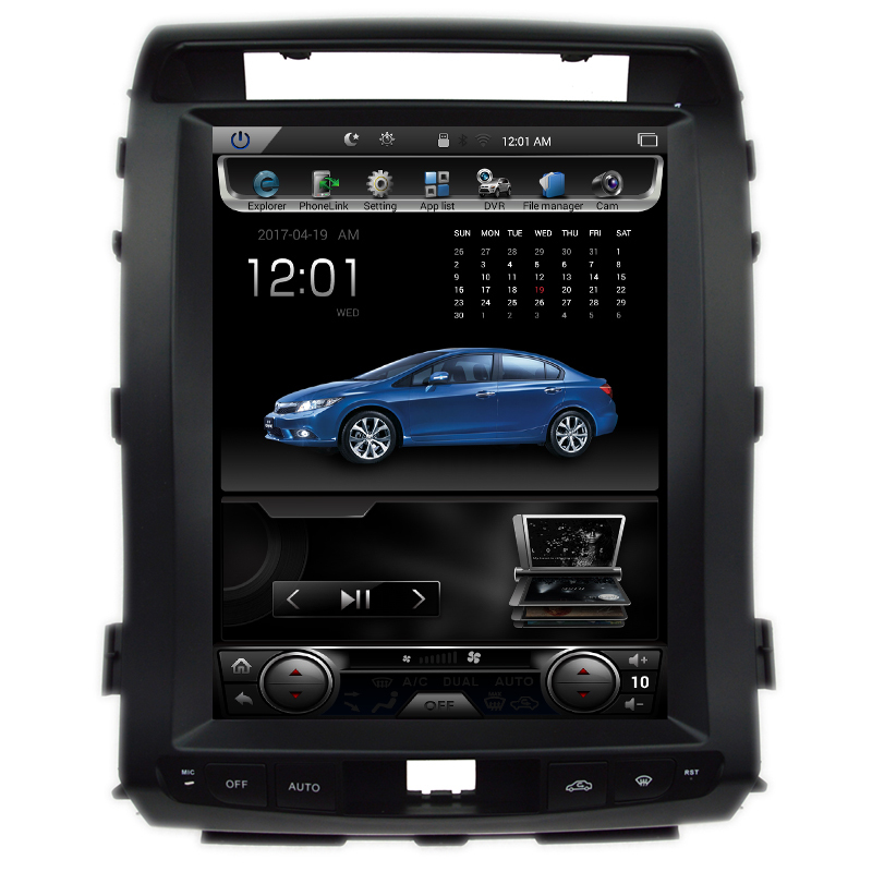 GreenYi Vertical 12.1 Quad Core Android 6.0 2GB RAM Car DVD GPS Radio For Toyota Landcruiser LC200 Multimedia Stereo Headunit