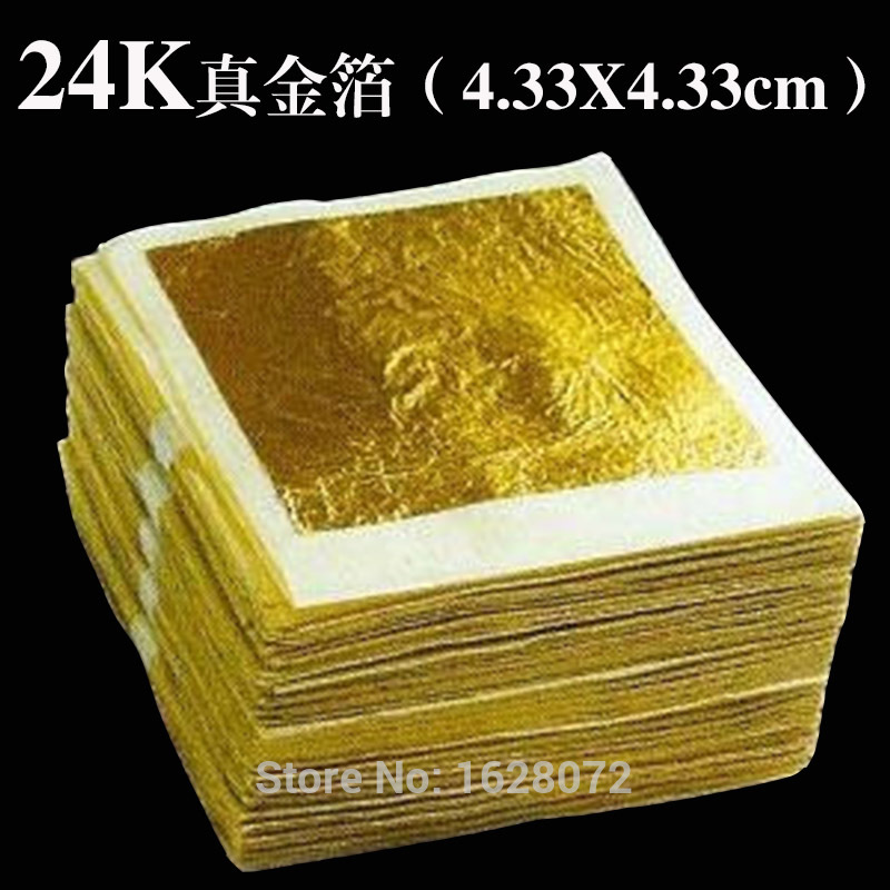 100 Sheets Genuine 24K Edible Gold Leaf - Food Decoration Gold Leaf Gold Mask For Cosmetology Gold Foil