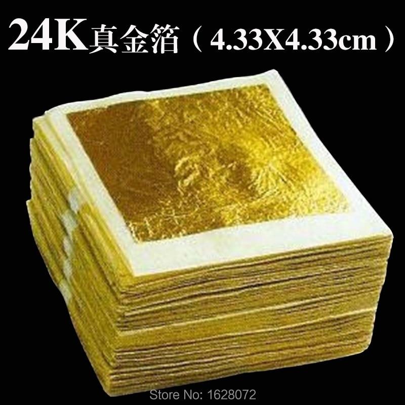 100 Sheets Genuine 24K Edible Gold Leaf - Food Decoration Gold Leaf Gold Mask For Cosmetology Gold Foil