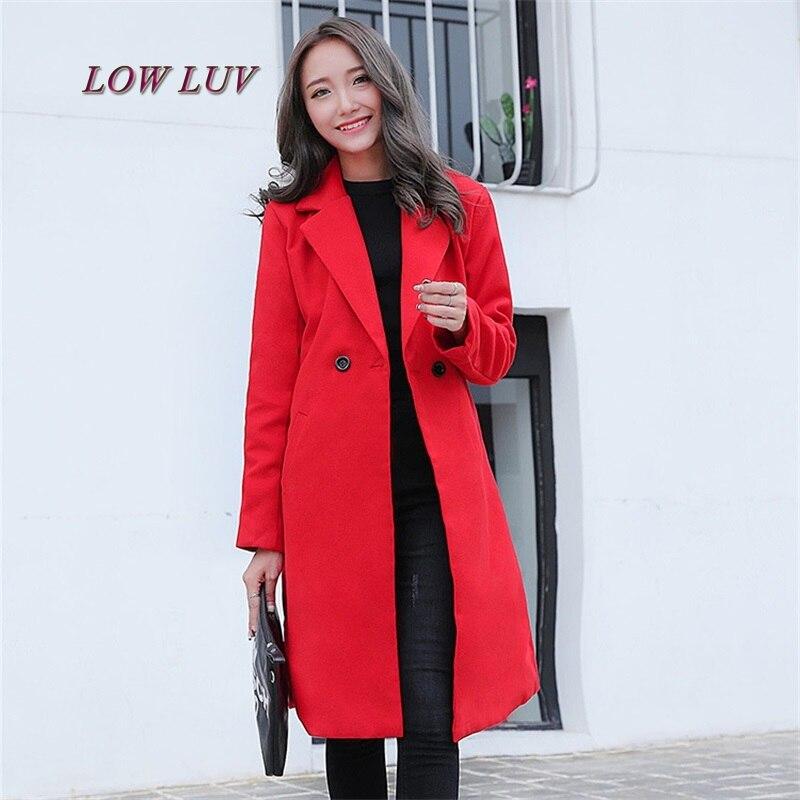 2017 Winter Fashion Women Loose New Coat Long Sleeve Medium Long High Quality Wool Jacket Female Thicken Warm Woolen Coat AL265