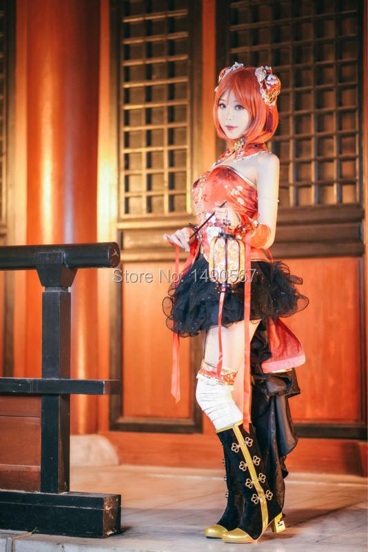 ba526851d Love Live Nishikino Maki Red Stage Dress cheongsam the Chinese Dress  Cosplay Costume on Aliexpress.com | Alibaba Group