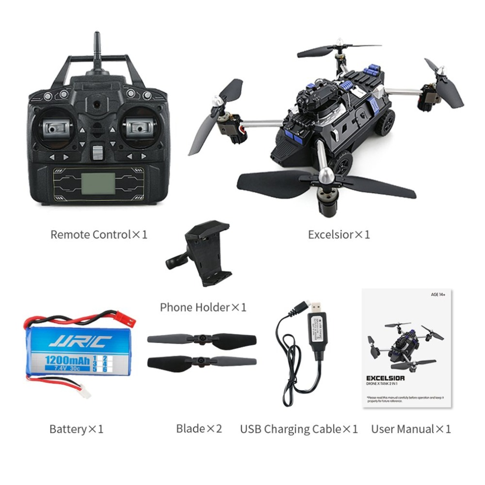 JJR/C H40WH Selfie FPV RC 2.4G RC Quadcopter Tank Car Drone Aircraft with 720P Wifi HD Camera Altitude Hold 360' Flips Drone