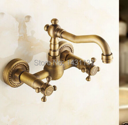 high quality Europe style brass material anti brass plating wall mounted kitchen sink tap bathroom basin faucet fashion europe style high quality brass
