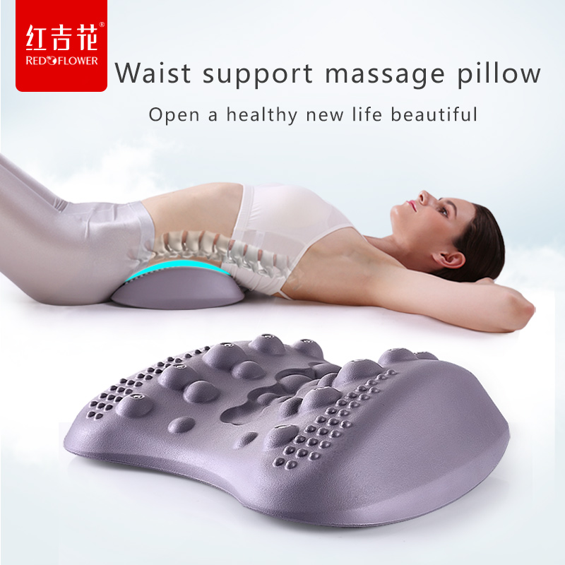 Therapy Back Waist Hyperosteogeny Lumbar Pain Support Corrector Posture Relief Tractor Shiatsu Massage Black Magnetic Brace цена и фото