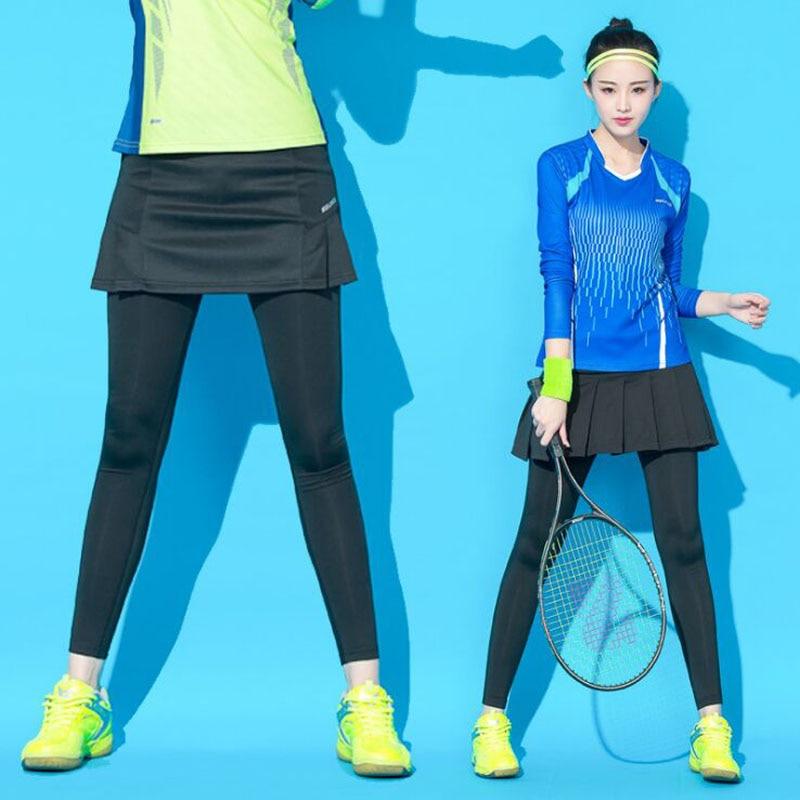 Girls Tennis Skorts , Women Professional Badminton trousers , Female Full Length Tennis Skirt Pants , Girl Sportwear Skirt Pant