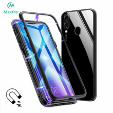 360 Magnetic Adorption Metal Bumper Glass Case for Mi Xiaomi Redmi Note 5 6 Pro 6A Pocophone F1 8 SE A2 Tempered Glass Back Case(China)