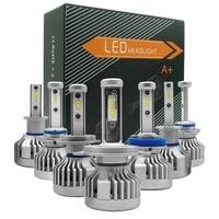 1 Pair LED H7 H4 9005 9006 H11 H1 H3 H8 H9 Car Headlight Bulb CSP