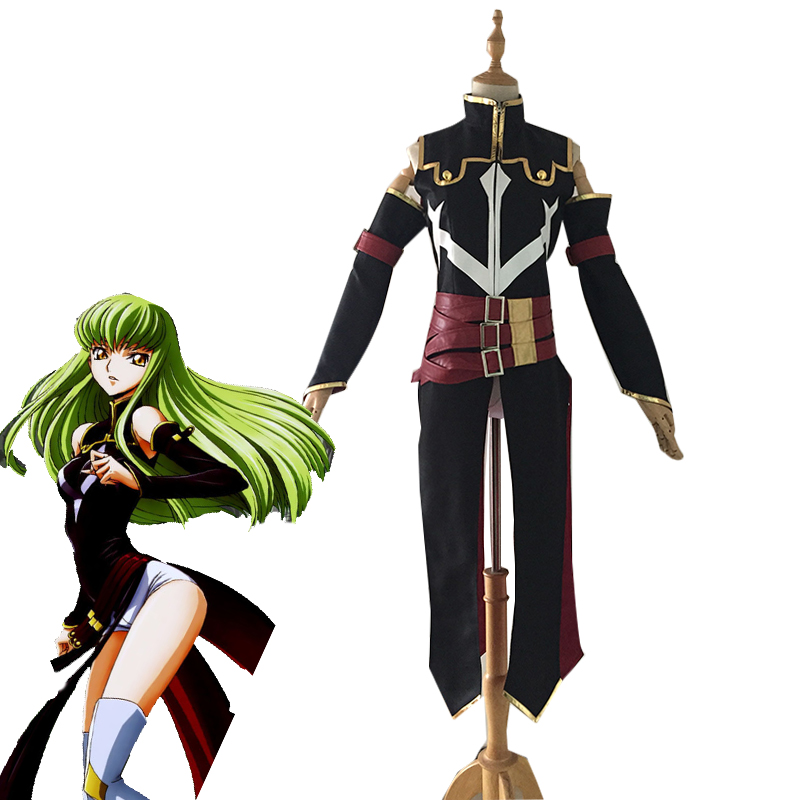 Anime Code Geass Queen CC Cosplay Costume Halloween Carnival Witch Black Uniforms Women Battle Suit Full