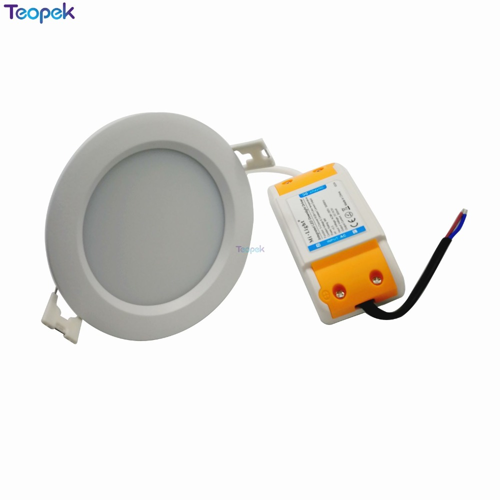 Mi.Light 6W RGB+CCT LED Downlight IP54 Waterproof Ceiling Panel Lamp FUT063 + 2.4G RF remote Controller <font><b>FUT092</b></font> +WL-iBox1 image