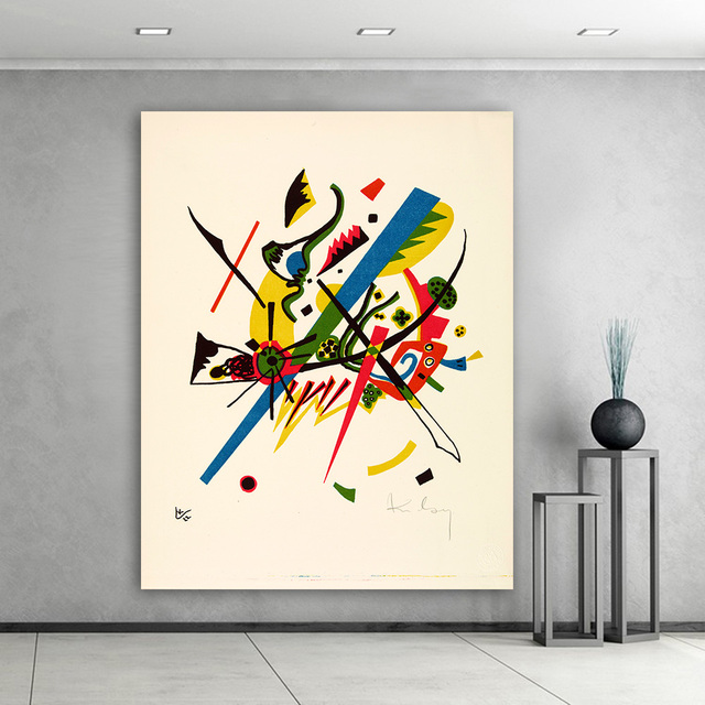 Hd Abstract Wall Art Pictures For Living Room Wily Kandinsky Small Worlds Home Decor Canvas