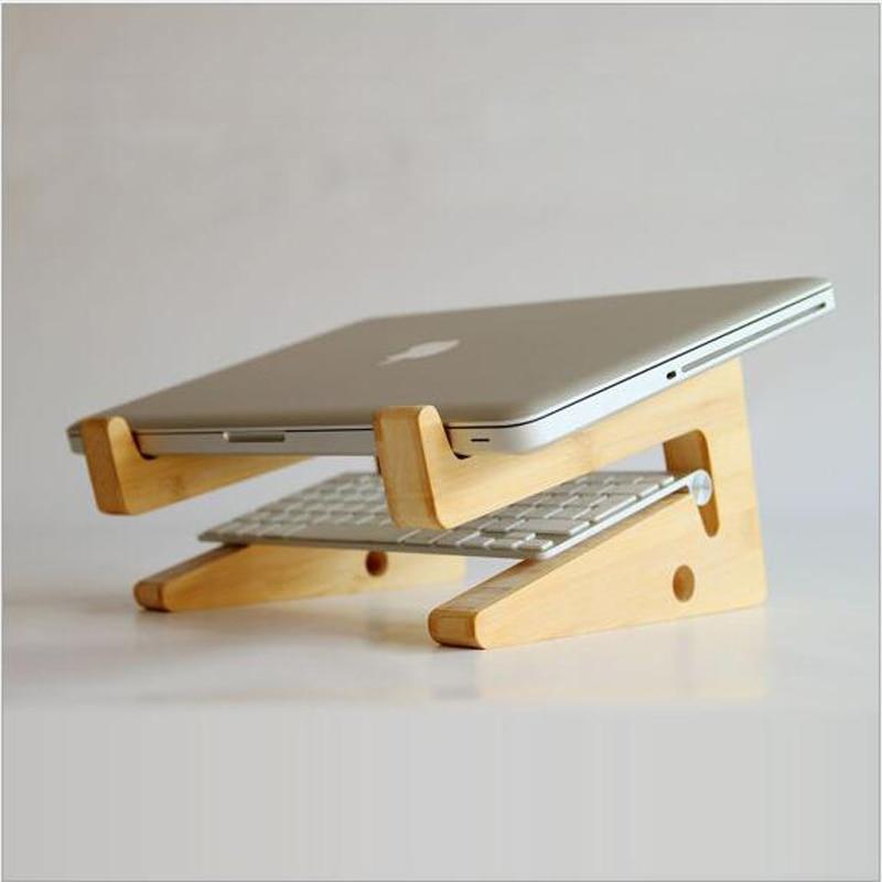 Multifonction En Bois Stand pour ordinateur portable portable Titulaire bois stand pour apple macbook ordinateur portable