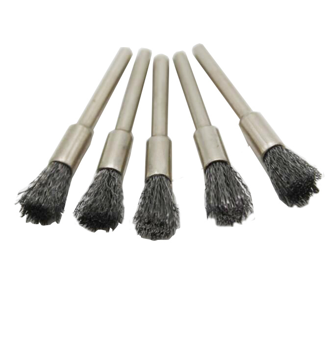 5 Pcs 5 Mm Steel Wire  Brushes Dremel Accessories Polishing Brush Dremel Tools Accessories For Mini Burr Brushed Wheel