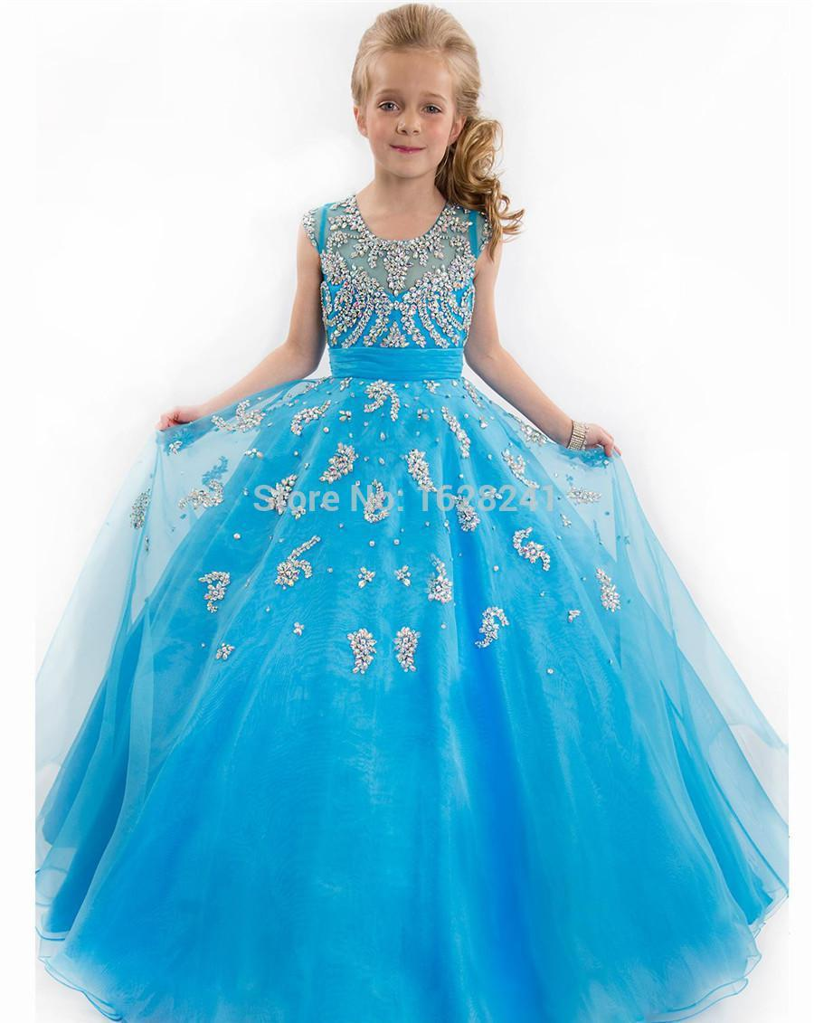 2016 New Crystal Party Time Perfect Angels Girl\'s Pageant Dresses ...