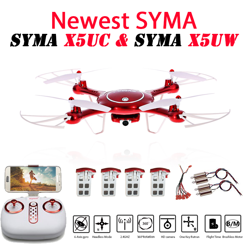 Newest SYMA X5UW & X5UC Drone 720P WIFI FPV With 2MP HD Camera Helicopter Height Hold One Key Land 2.4G 4CH 6Axis RC Quadcopter цена 2017
