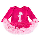 Baby Infant Girl Birthday Outfits Newborn Baby Girl Minnie Romper Dress Bebes First Birthday Dress Party Cosplay Costume Clothes