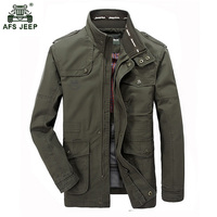 Brand 2018 Stand Collar Cotton Military Jackets Men Spring Autumn Casual Multi pocket Jackets Jaqueta Masculina Size M 7XL 130wy
