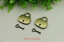 Bolsa de accesorios bolsa de accesorios de hardware de bloqueo colgante de bronce candado de plata pequeño candado cerradura de bloqueo bolsa de decoración