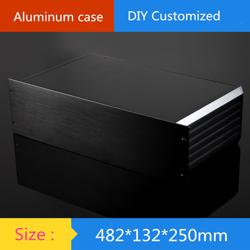 DIY AMP CASE 482*132*250mm 250 deep 19-inch standard 3U chassis instrumentation aluminum chassis amplifier aluminum shell/case globe shaped aluminum shell precise compass