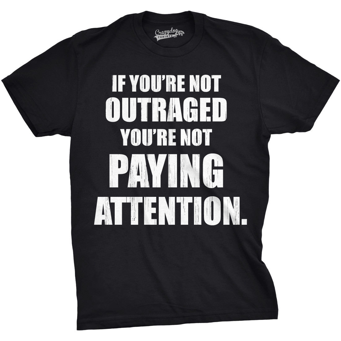 Mens Not Outraged Not Paying Attention Funny Vintage Novelty Cool T shirt