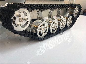 Metal Robot Tank Chassis silver for Caterpillar Suspension SINONING TS100 New Design for arduino SN2500 Diy Tracked Crawler Cat