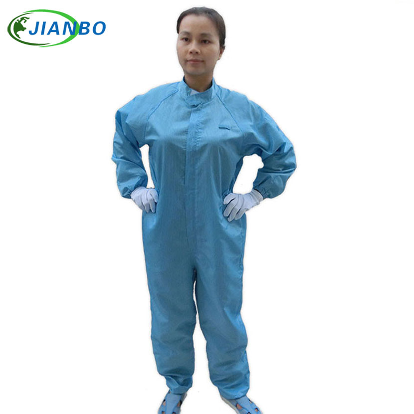 High Quality ESD Spray Painting Protective Suit Body Security And Protection Clean Room Spray Jumpsuit Suits Dustproof Clothes anti electrostatic decontamination room protection system the medicine have no germ spray a paint connect the body take