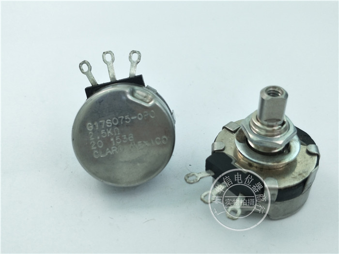 Original new 100% Mexico import G17S075-OPO 2.5K single potentiometer axis diameter 6.4MM (SWITCH)