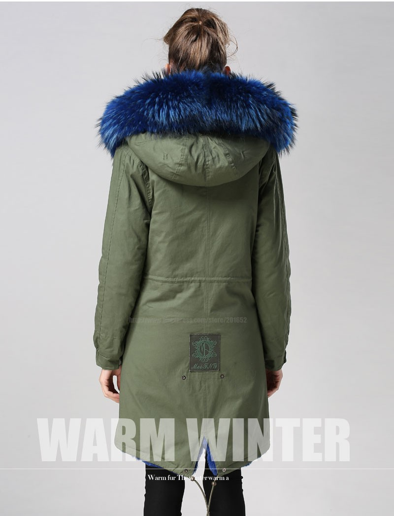 Women raccoon Winter Warm Parka high quality Faux Fur parka Hooded Coat Overcoat Tops Women's Fur Jacket 31