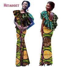 New Style Summer 2017 African Dresses for Women Print Clothing Sleeveless Hollow Out Long Dress Plus Size 6XL WY1434