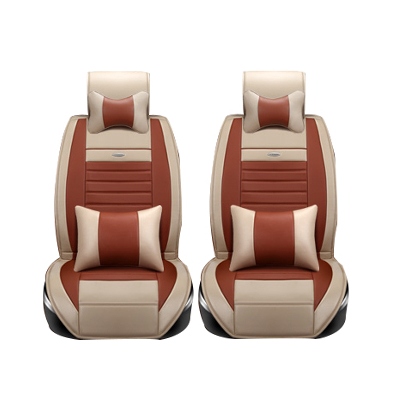 2 driver seats universal leather car seat covers for toyota corolla camry rav4 auris prius. Black Bedroom Furniture Sets. Home Design Ideas