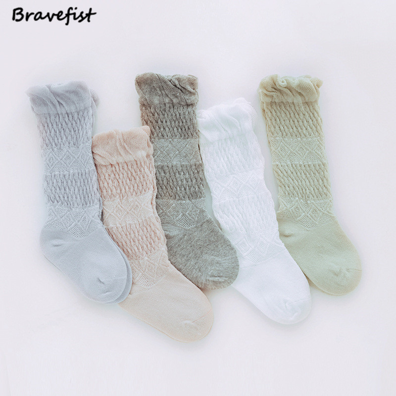 1 Pair Summer Girls Baby Thigh High Over Knee Socks 0-3Y Cotton Long Socks Children Cute Thin Mesh Lace Princess Dance Socks